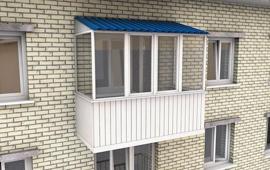Остекление балконов в хрущевке в москве по доступной цене.