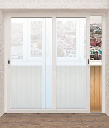 Раздвижные двери на балкон - низкая цена.